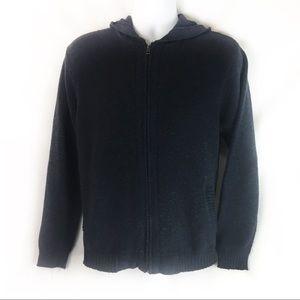 PATAGONIA | cardigan hoodie zip front wool M